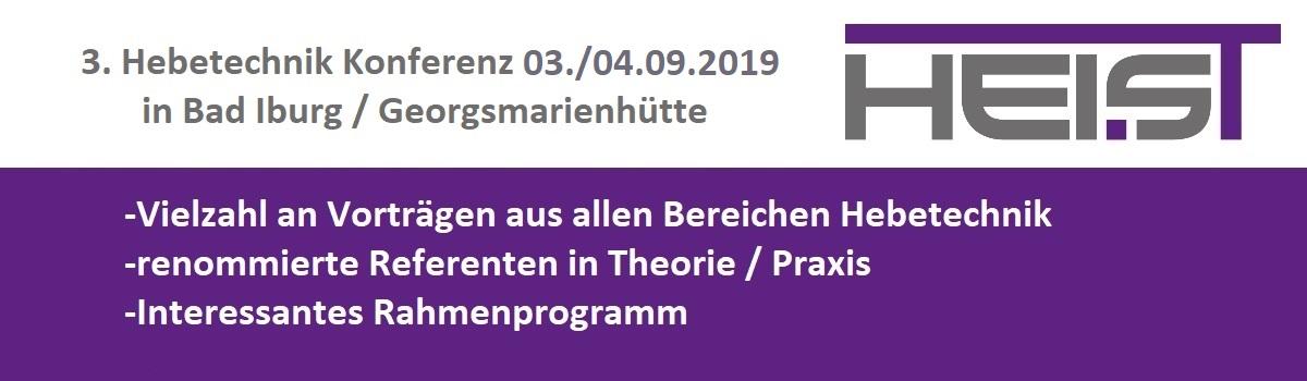 3. Hebetechnik - Konferenz 03./04.09.2019